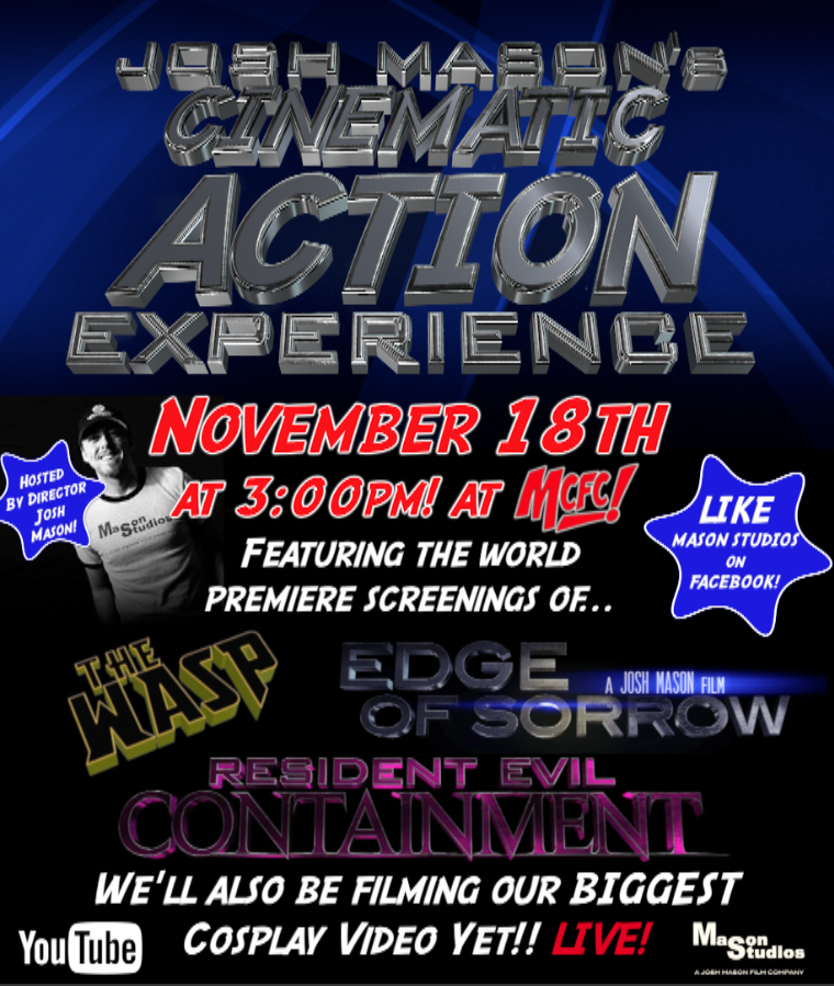 Cinematic Action Experience Flyer